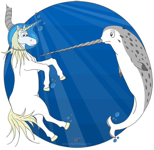 Unicorn and Narwhal meet.