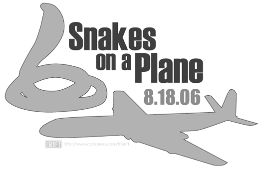 It's about snakes. On a plane.